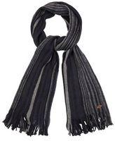 Mantaray Navy Striped Knit Scarf