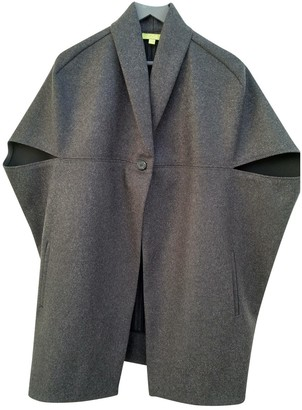 Cos Anthracite Wool Coat for Women