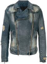 Balmain biker denim jacket