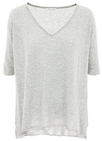 Minnie Rose New And Now Cotton Perfect V-Neck T-Shirt - 18297