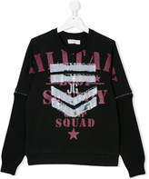 John Galliano logo print sweatshirt