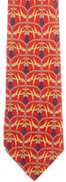Gucci Belt Print Silk Tie