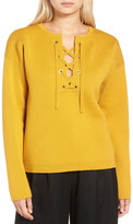 J.Crew Factory J. Crew Factory Collection Bonded Lace-Up Sweater