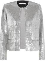 IRO Omana Sequined Tulle Jacket - Silver