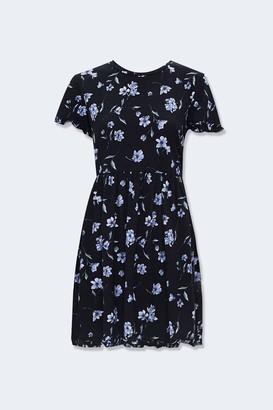 Forever 21 Ruffled Floral Mini Dress