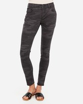 Express Mid Rise Gray Camo Jean Leggings