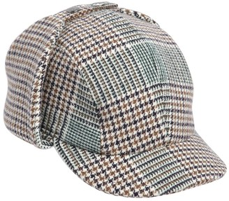 Borsalino Checkered Wool Blend Sherlock Hat