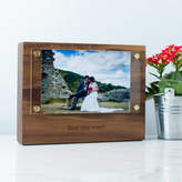 Create Gift Love Personalised Wood Photo Block With Acrylic Frame