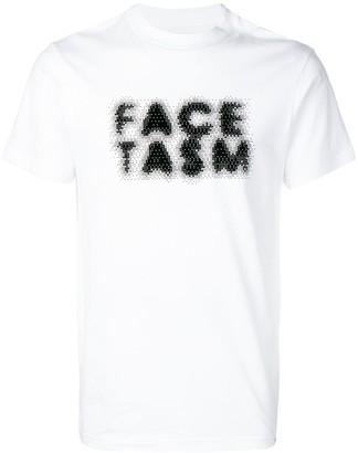 Facetasm faded logo print T-shirt