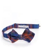 Nordstrom Boy's Plaid Wool & Silk Bow Tie