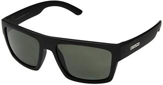 SunCloud Polarized Optics Flatline (Matte Black/Polarized Gray Lens) Athletic Performance Sport Sunglasses