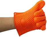 ZW BBQ Gloves,Heat Resistant Silicone Oven Mitts, Cooking, Barbecue,Baking,Ultra Durable (One Size for Most) (130g)