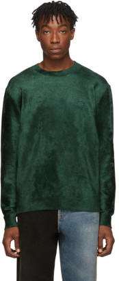 Balenciaga Green Velvet Knit Sweater