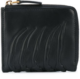 Alexander McQueen rib cage wallet - unisex - Calf Leather - One Size