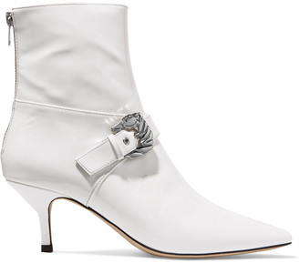Dorateymur Buckled Patent-leather Ankle Boots