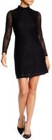 London Times Long Sleeve Lace Shift Dress (Petite)