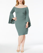 Planet Gold Plus Size Bell-Sleeve Bodycon Dress