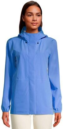 Lands' End Women's Hooded Waterproof Rain Jacket