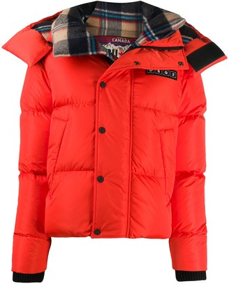 DSQUARED2 Hooded Zip-Up Down Jacket