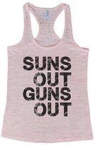 "Womens Funny Racerback Burnout Tank Top ""Sun's Out Gun's Out"" RB Clothing Co"