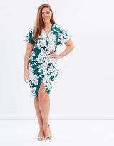 Floral Front Wrap Dress