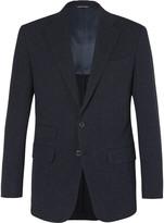Thom Sweeney - Blue Slim-fit Slub Cotton, Wool And Silk-blend Suit Jacket