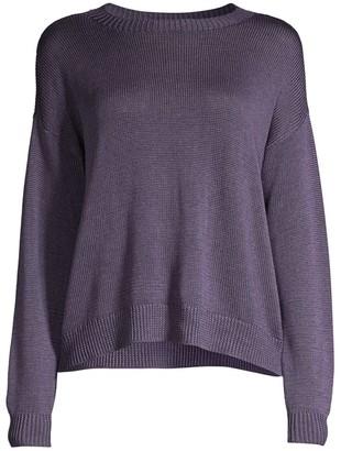 Eileen Fisher Round-Neck Silk Sweater