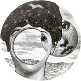"Fornasetti Woman's Face Circular Cutout"" Plate"
