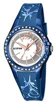 Calypso Women's Quartz Watch with Silver Dial Analogue Display and Blue Plastic Strap K5624/D