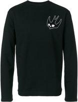 McQ by Alexander McQueen swallow motif sweater - men - Cotton/Polyester - S