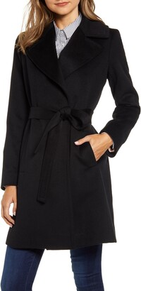 Fleurette Wool Wrap Coat