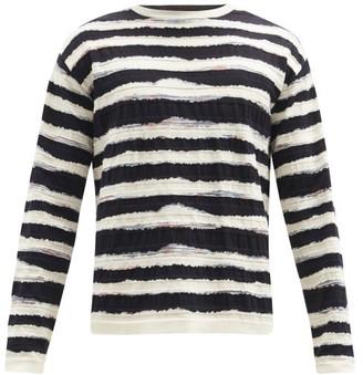 Missoni Striped Cotton Sweater - Cream Multi