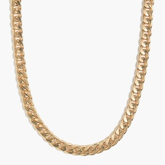J.Crew Curb chain gold necklace