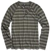 Todd Snyder Stripe Weathered Henley in Surplus
