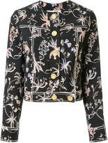 Peter Pilotto cropped floral print jacket