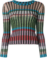 Missoni striped sparkly knitted top