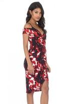 AX Paris Red Printed Wrap Dress
