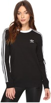 adidas 3-Stripes Long Sleeve Tee Women's Long Sleeve Pullover