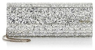 Jimmy Choo Sweetie Metallic Glitter Acrylic Clutch