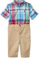 Ralph Lauren Plaid Shirt & Chino Pants Set, Baby Boys (0-24 months)
