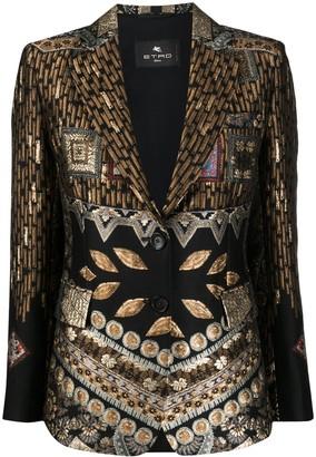 Etro Metallic Jacquard Blazer