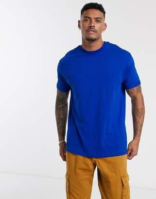 Bershka Join Life Organic Cotton loose fit t-shirt in blue
