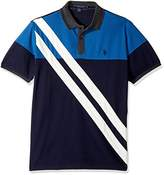 U.S. Polo Assn. Men's Slim Fit Striped Short Sleeve Pique Polo Shirt