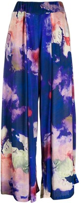 Henrik Vibskov Blue Abstract-Print Trousers