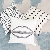 Kelly Wearstler Graffito Pillow Embroidered - Black