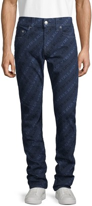 True Religion Logo Relaxed Skinny Jeans
