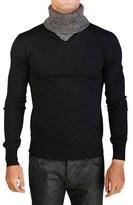 Christian Dior Virgin Wool Turtleneck Sweater Black Grey.