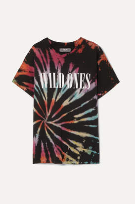 Amiri Wild Ones Printed Tie-dyed Cotton-jersey T-shirt - Black