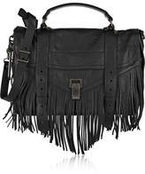 Proenza Schouler The Ps1 Medium Fringed Leather Shoulder Bag - Black