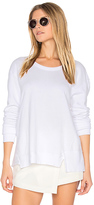 Wilt Seamed Mixed Sweatshirt in White. - size XS (also in )
